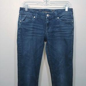 Seven7 Slim Straight Leg Jeans Medium Wash size 28